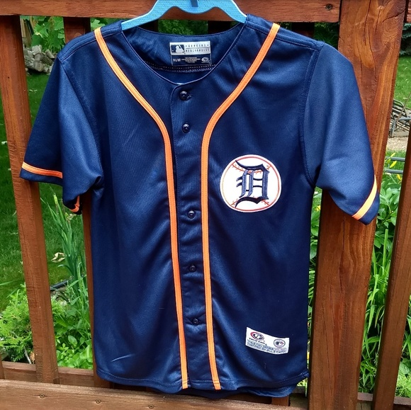 separation shoes 67c89 28f57 Blue and orange Detroit Tigers baseball jersey